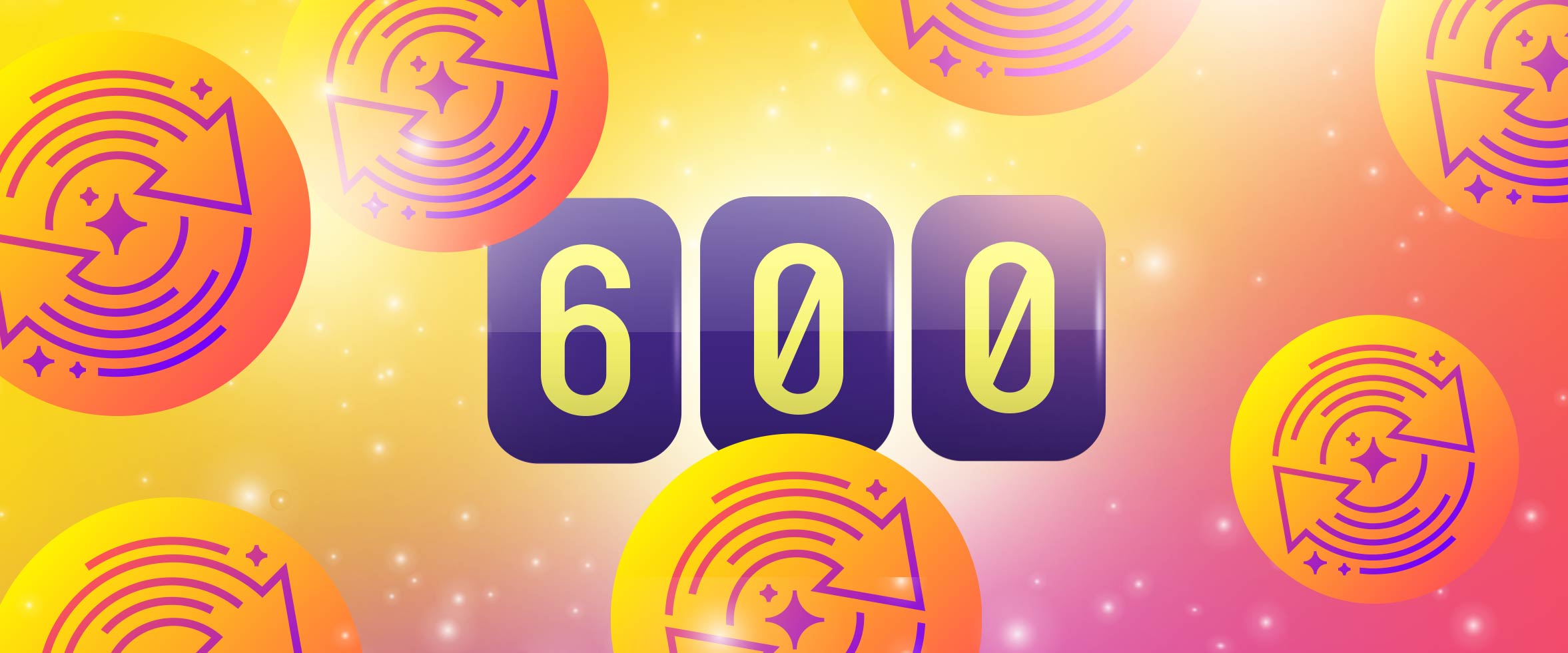 600 Free Spins this September