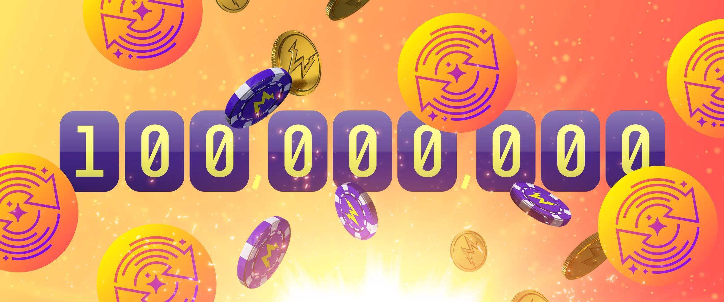 €10,000 Cash Prize for the 100 Millionth Free Spin