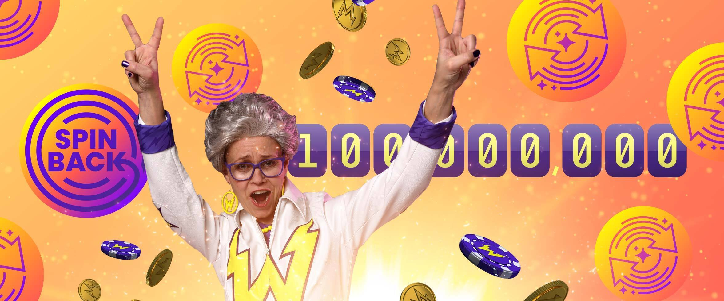 €10,000 Prize Awarded for the 100 Millionth Free Spin!