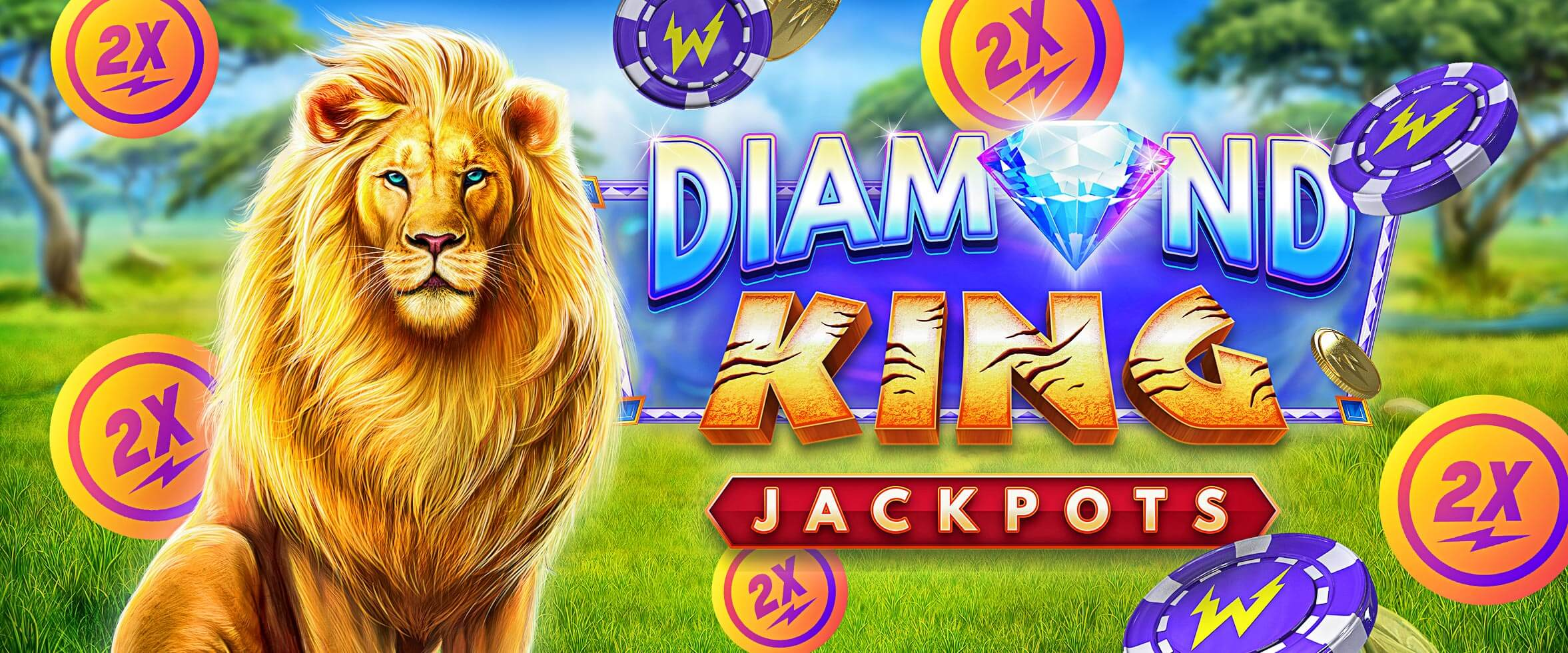 Double Speed on Diamond King Jackpots
