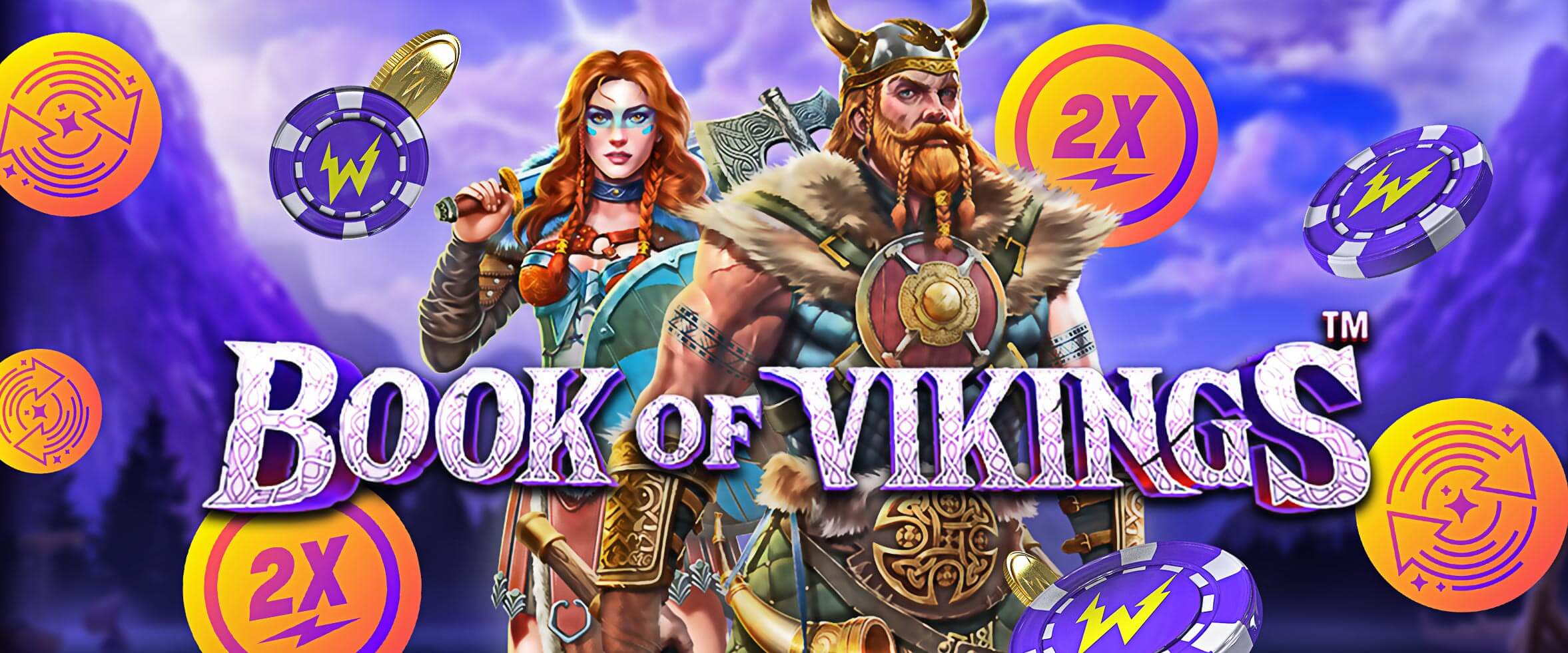 50 Freispiele plus Double Speed für den neuen Slot Book of Vikings