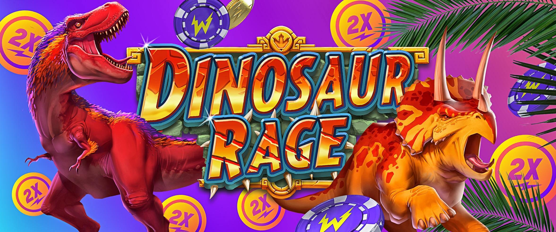 Tours gratuits et Double Vitesse sur le nouveau jeu Dinosaur Rage