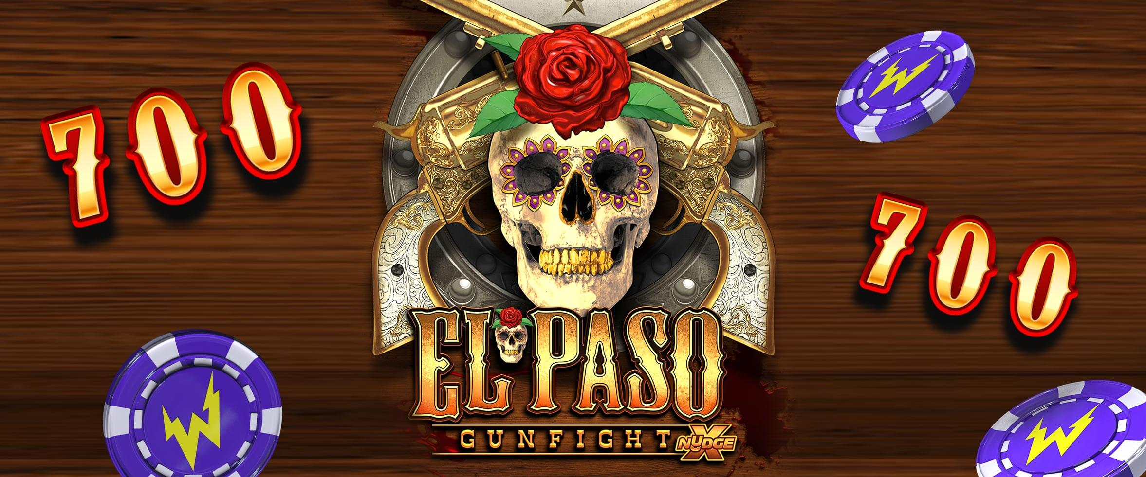 ⭐️ Get up to 700 Free Spins on El Paso Gunfight xNudge