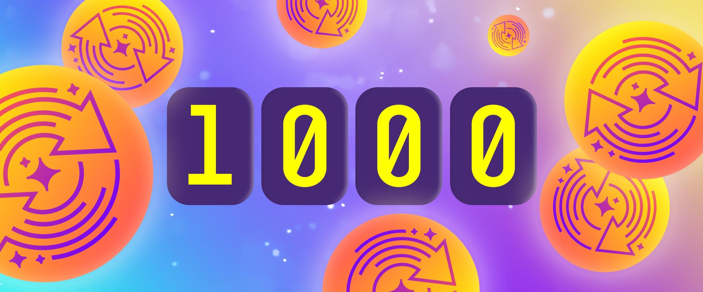 1000 ilmaiskierrosta ovat sinun!